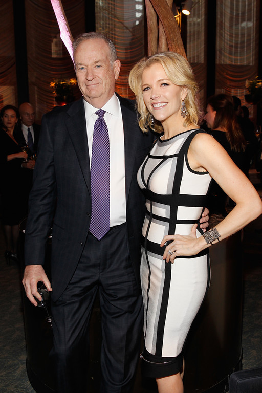 . Bill O\'Reilly and Megyn Kelly are seen at The 35 Most Powerful People in Media hosted by The Hollywood Reporter on Wednesday, April 16, 2014 in New York, New York. (Photo by Mark Von Holden/Invision for The Hollywood Reporter/AP Images)
