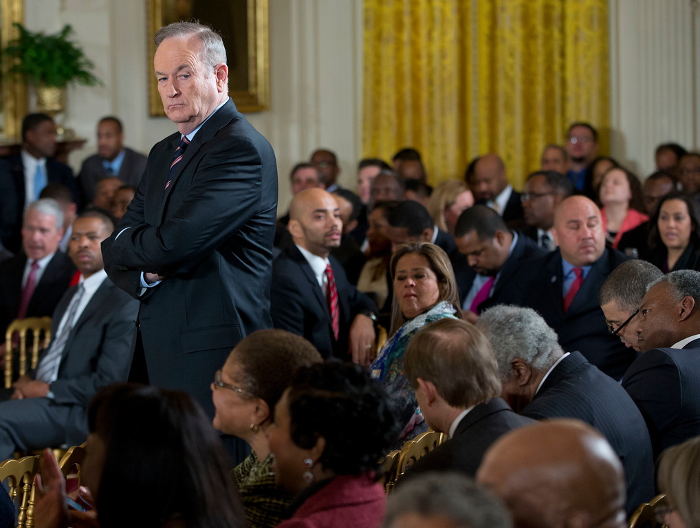 ". Television personality Bill O\'Reilly waits for the start of an event in the East Room of the White House, on Thursday, Feb. 27, 2014, in Washington. Joined at the White House by young men of color, President Barack Obama was calling on America\'s businesses, philanthropists and government leaders to join forces to put more boys on a path toward successful lives. Foundations were to announce pledges to spend at least $200 million over five years to promote that goal as Obama launches his ""My Brother\'s Keeper\"" initiative. (AP Photo/Pablo Martinez Monsivais)"