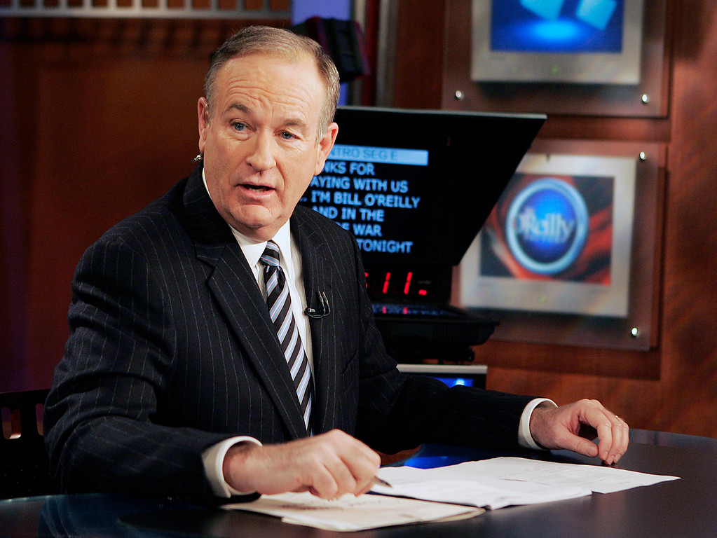 ". **FILE**Fox News commentator Bill O\'Reilly appears on the Fox News show, ""The O\'Reilly Factor,\"" on Jan. 18, 2007 in New York. After eating dinner at a famed Harlem restaurant recently, O\'Reilly  started a controversy after he told a radio audience he \""couldn\'t get over the fact\"" that there was no difference between the black-run Sylvia\'s and any other restaurant in New York. (AP Photo/Jeff Christensen)"