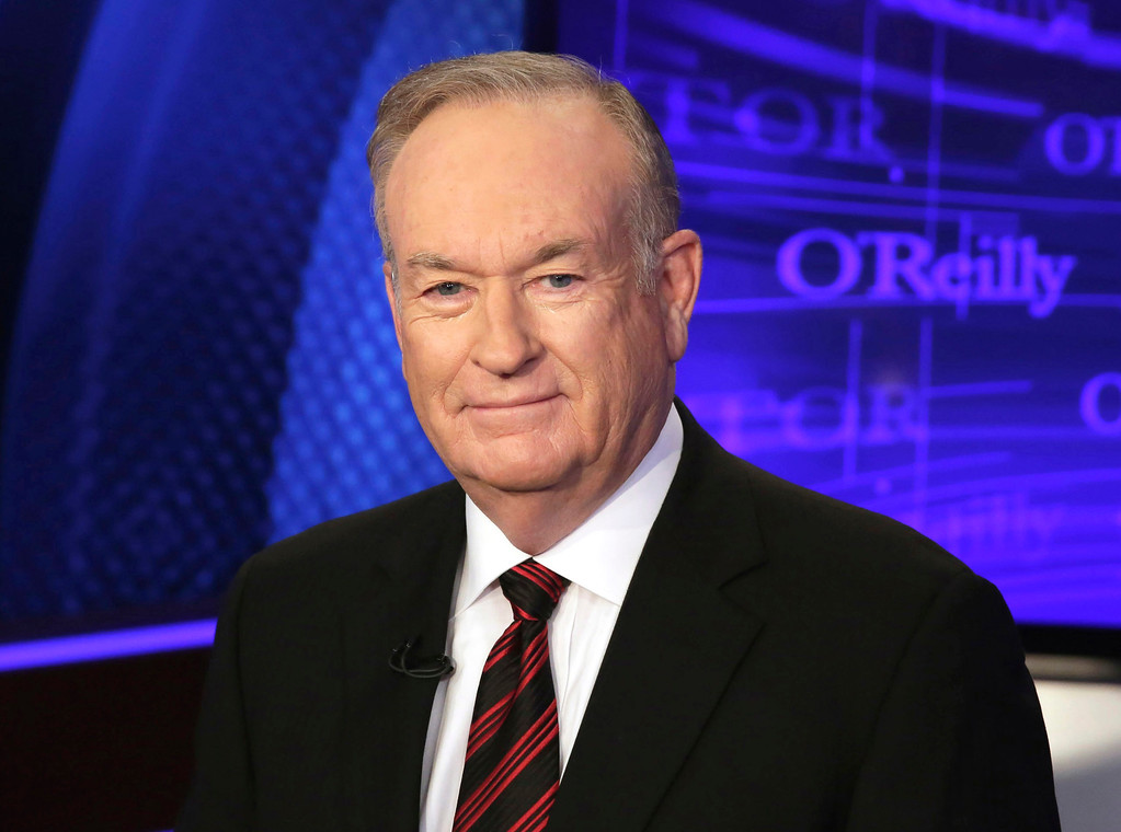 ". FILE - In this Oct. 1, 2015 file photo, Bill O\'Reilly of the Fox News Channel program ""The O\'Reilly Factor,\"" poses for photos in New York. O\'Reilly responded on his show Tuesday, July 26, 2016, to first lady Michelle Obama\'s remarks during her speech at the Democratic National Convention Monday that she wakes up \""every morning in a house that was built by slaves.\"" O\'Reilly said the slaves who helped build the White House \""were well-fed and had decent lodgings provided by the government.\"" (AP Photo/Richard Drew, File)"