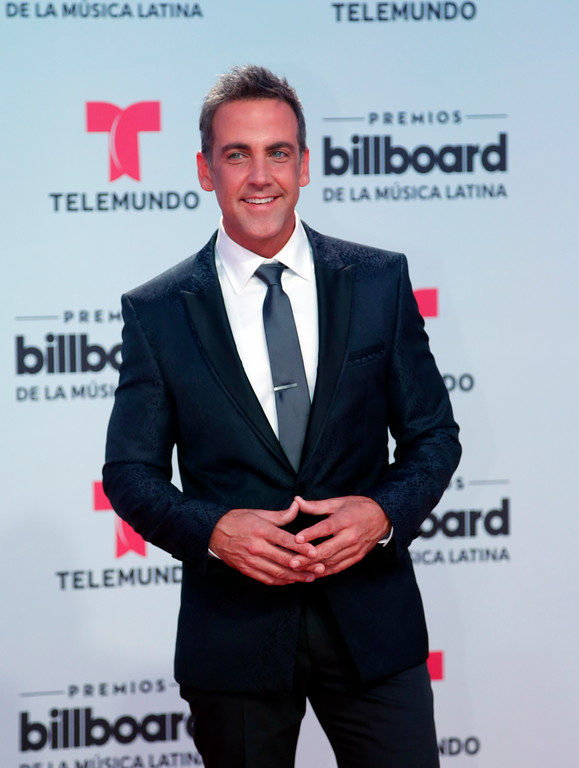 . Singer Carlos Ponce arrives at the Latin Billboard Awards, Thursday, April 27, 2017 in Coral Gables, Fla. (AP Photo/Wilfredo Lee)