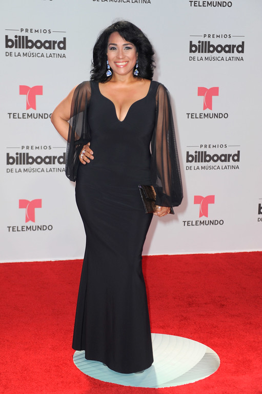 . CORAL GABLES, FL - APRIL 27:  Aymee Nuviola attends the Billboard Latin Music Awards at Watsco Center on April 27, 2017 in Coral Gables, Florida.  (Photo by Sergi Alexander/Getty Images)