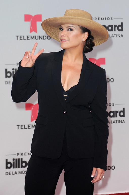 . CORAL GABLES, FL - APRIL 27:  Olga Tañon attends the Billboard Latin Music Awards at Watsco Center on April 27, 2017 in Coral Gables, Florida.  (Photo by Sergi Alexander/Getty Images)