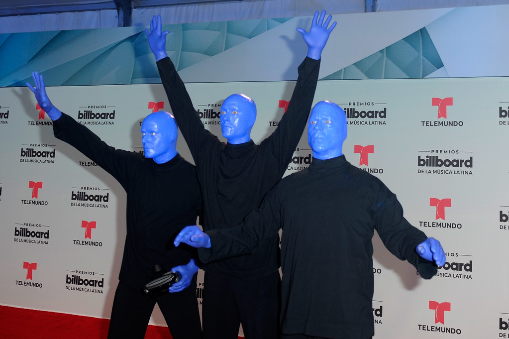 . CORAL GABLES, FL - APRIL 27:  Blue Man Group attend the Billboard Latin Music Awards at Watsco Center on April 27, 2017 in Coral Gables, Florida.  (Photo by Sergi Alexander/Getty Images)