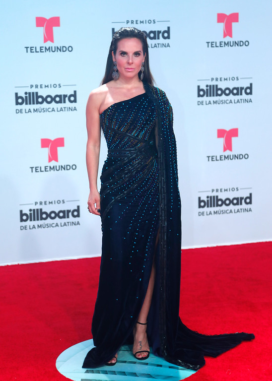 . Actress Kate de Castillo arrives at the Latin Billboard Awards, Thursday, April 27, 2017 in Coral Gables, Fla. (AP Photo/Wilfredo Lee).