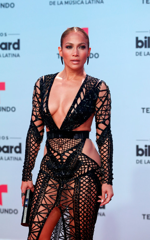 . Singer Jennifer Lopez arrives at the Latin Billboard Awards, Thursday, April 27, 2017 in Coral Gables, Fla. (AP Photo/Wilfredo Lee).
