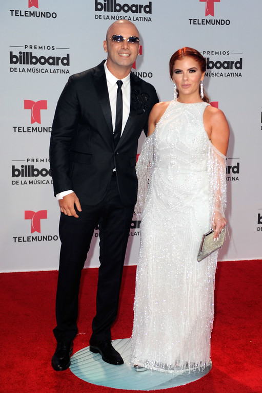 . CORAL GABLES, FL - APRIL 27: Wisin and Yomaira Ortiz attend the Billboard Latin Music Awards at Watsco Center on April 27, 2017 in Coral Gables, Florida.  (Photo by Sergi Alexander/Getty Images)