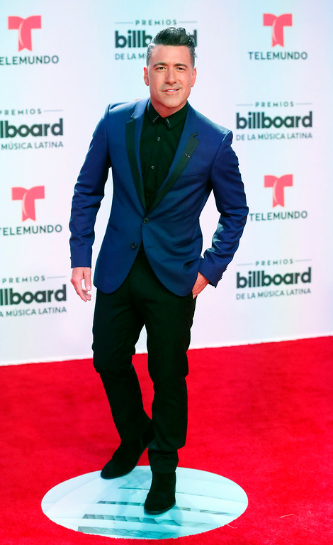 . TV personality Jorge Bernal arrives at the Latin Billboard Awards, Thursday, April27, 2017 in Coral Gables, Fla. (AP Photo/Wilfredo Lee).