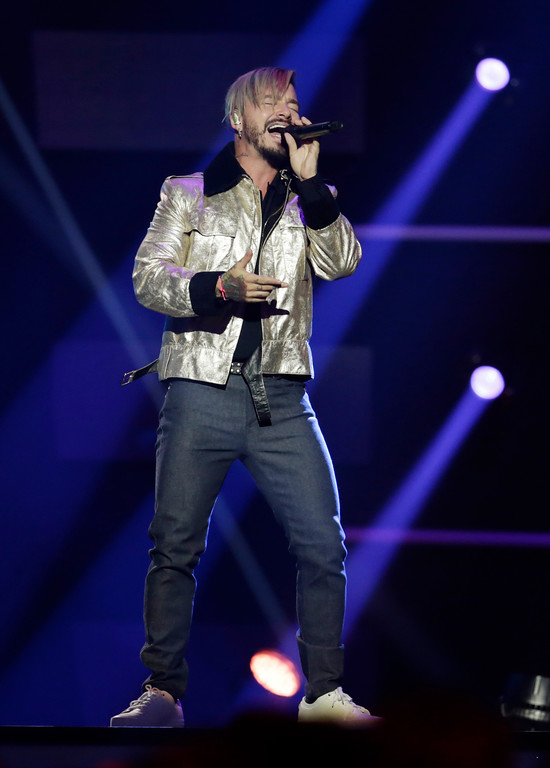 . Singer J Balvin performs during the Latin Billboard Awards Thursday, April 27, 2017 in Coral Gables, Fla. (AP Photo/Lynne Sladky)