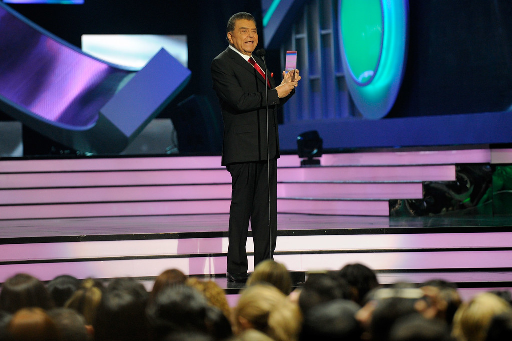 . CORAL GABLES, FL - APRIL 27:  Don Francisco presents onstage at the Billboard Latin Music Awards at Watsco Center on April 27, 2017 in Coral Gables, Florida.  (Photo by Sergi Alexander/Getty Images)