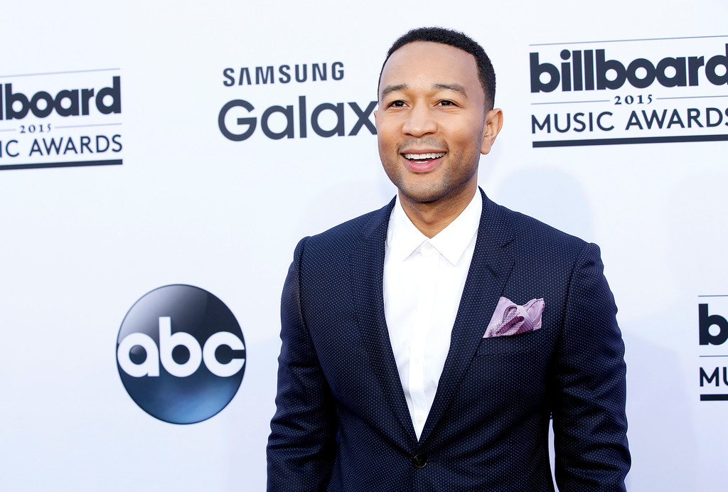 . John Legend arrives at the Billboard Music Awards at the MGM Grand Garden Arena on Sunday, May 17, 2015, in Las Vegas. (Photo by Eric Jamison/Invision/AP)