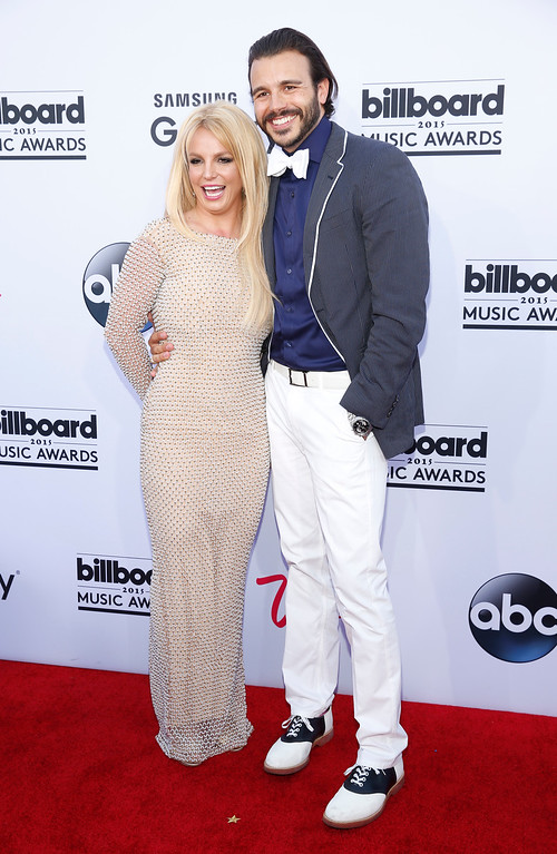. Britney Spears, left, and Charlie Ebersol arrive at the Billboard Music Awards at the MGM Grand Garden Arena on Sunday, May 17, 2015, in Las Vegas. (Photo by Eric Jamison/Invision/AP)