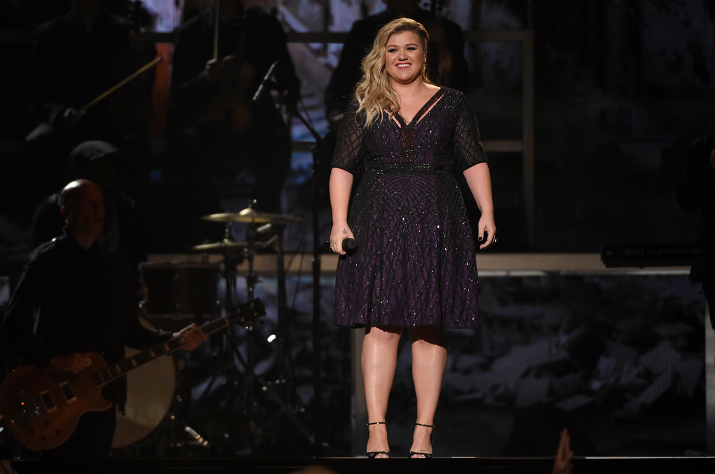 . Kelly Clarkson performs at the Billboard Music Awards at the MGM Grand Garden Arena on Sunday, May 17, 2015, in Las Vegas. (Photo by Chris Pizzello/Invision/AP)