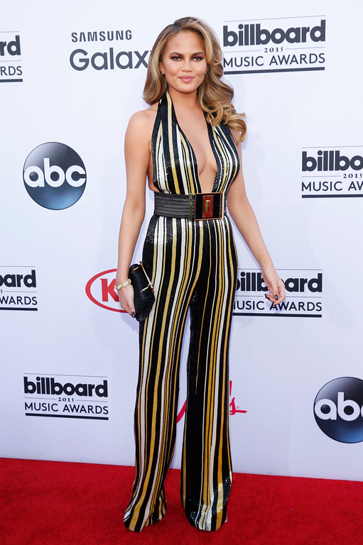 . Chrissy Teigen arrives at the Billboard Music Awards at the MGM Grand Garden Arena on Sunday, May 17, 2015, in Las Vegas. (Photo by Eric Jamison/Invision/AP)