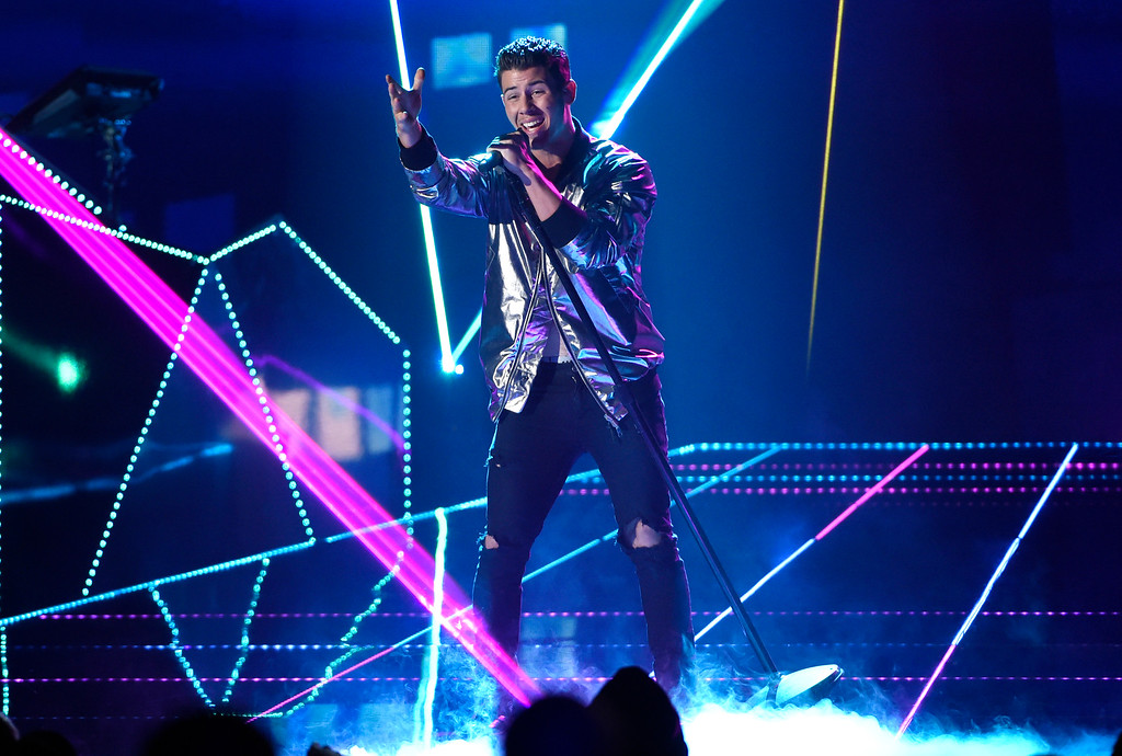 . Nick Jonas performs at the Billboard Music Awards at the MGM Grand Garden Arena on Sunday, May 17, 2015, in Las Vegas. (Photo by Chris Pizzello/Invision/AP)