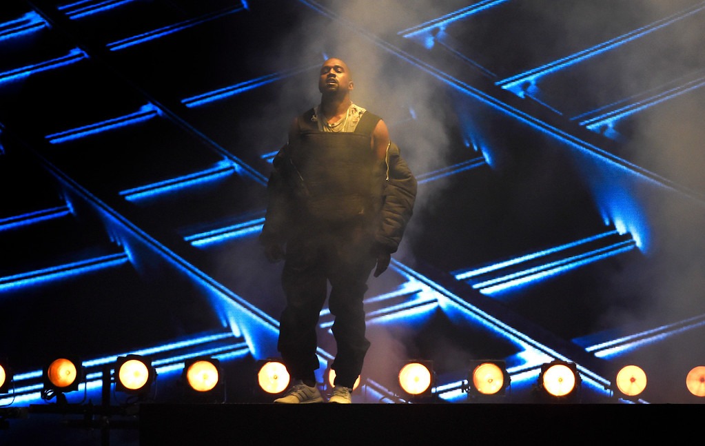 . Kanye West performs at the Billboard Music Awards at the MGM Grand Garden Arena on Sunday, May 17, 2015, in Las Vegas. (Photo by Chris Pizzello/Invision/AP)