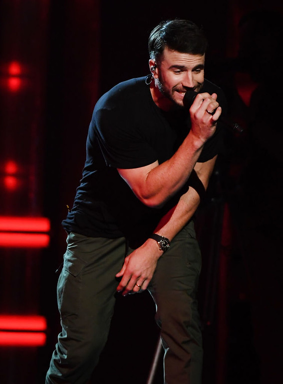 . LAS VEGAS, NV - MAY 21:  Singer Sam Hunt performs onstage during the 2017 Billboard Music Awards at T-Mobile Arena on May 21, 2017 in Las Vegas, Nevada.  (Photo by Ethan Miller/Getty Images)