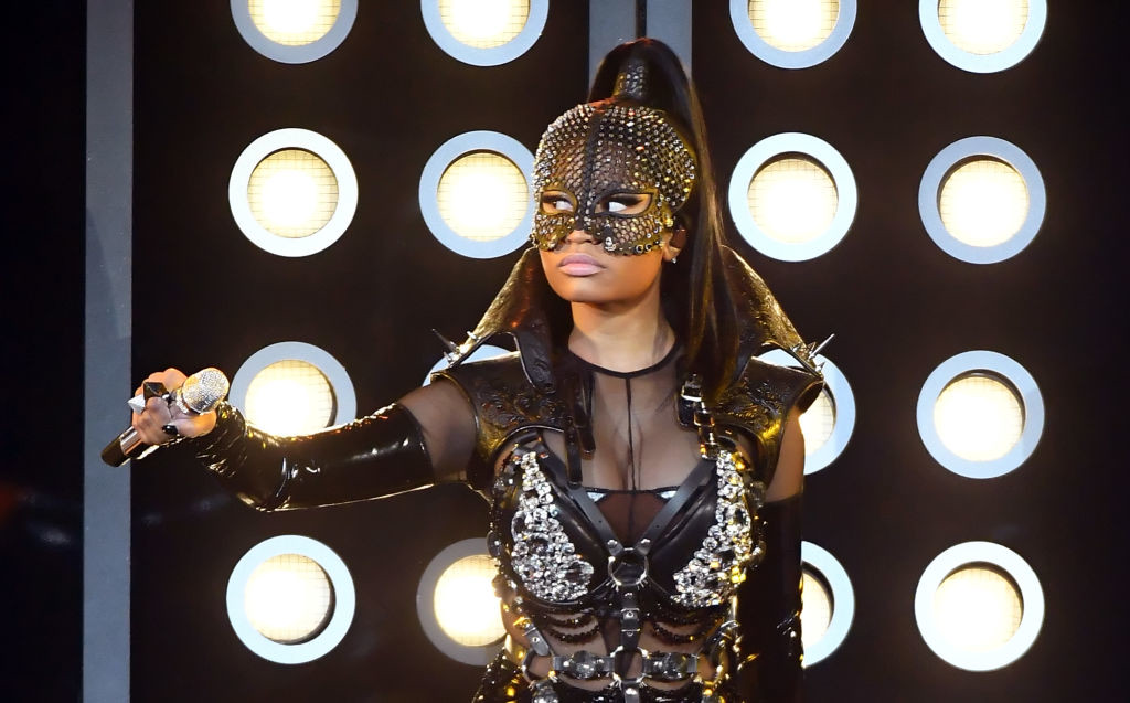 . LAS VEGAS, NV - MAY 21:  Rapper Nicki Minaj performs onstage during the 2017 Billboard Music Awards at T-Mobile Arena on May 21, 2017 in Las Vegas, Nevada.  (Photo by Ethan Miller/Getty Images)