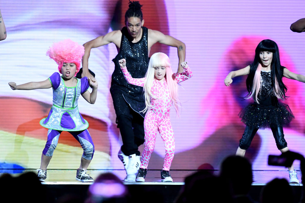 . LAS VEGAS, NV - MAY 21:  Youth dancers perform onstage during the 2017 Billboard Music Awards at T-Mobile Arena on May 21, 2017 in Las Vegas, Nevada.  (Photo by Ethan Miller/Getty Images)