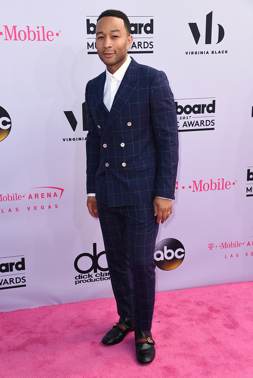 . John Legend arrives at the Billboard Music Awards at the T-Mobile Arena on Sunday, May 21, 2017, in Las Vegas. (Photo by Richard Shotwell/Invision/AP)