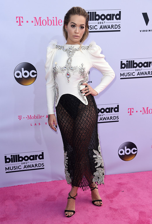 . Rita Ora arrives at the Billboard Music Awards at the T-Mobile Arena on Sunday, May 21, 2017, in Las Vegas. (Photo by Richard Shotwell/Invision/AP)
