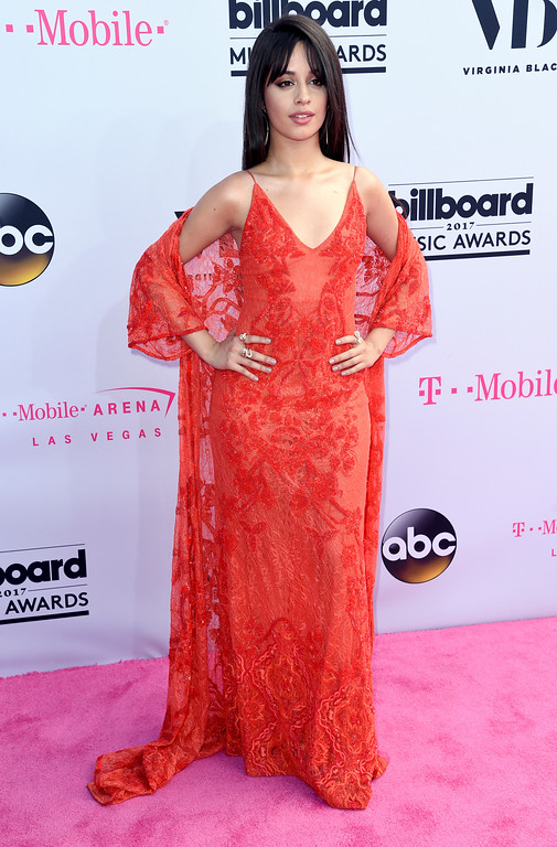 . Camila Cabello arrives at the Billboard Music Awards at the T-Mobile Arena on Sunday, May 21, 2017, in Las Vegas. (Photo by Richard Shotwell/Invision/AP)
