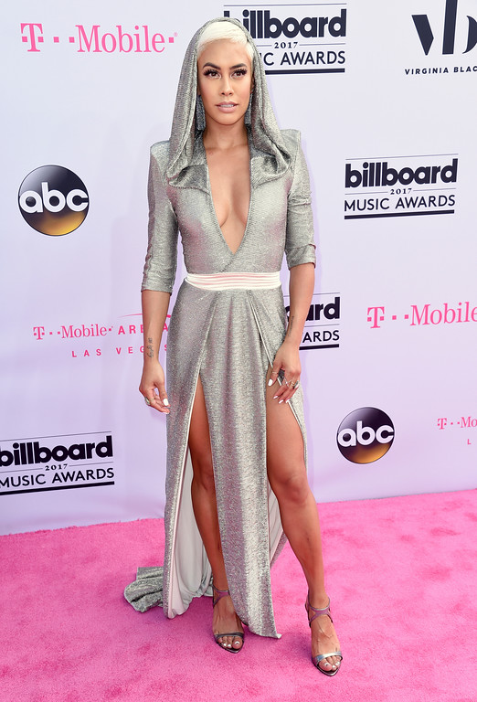 . Sibley Scoles arrives at the Billboard Music Awards at the T-Mobile Arena on Sunday, May 21, 2017, in Las Vegas. (Photo by Richard Shotwell/Invision/AP)