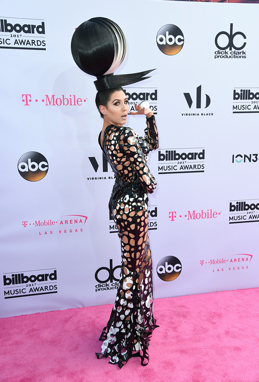 . Z LaLa arrives at the Billboard Music Awards at the T-Mobile Arena on Sunday, May 21, 2017, in Las Vegas. (Photo by Richard Shotwell/Invision/AP)