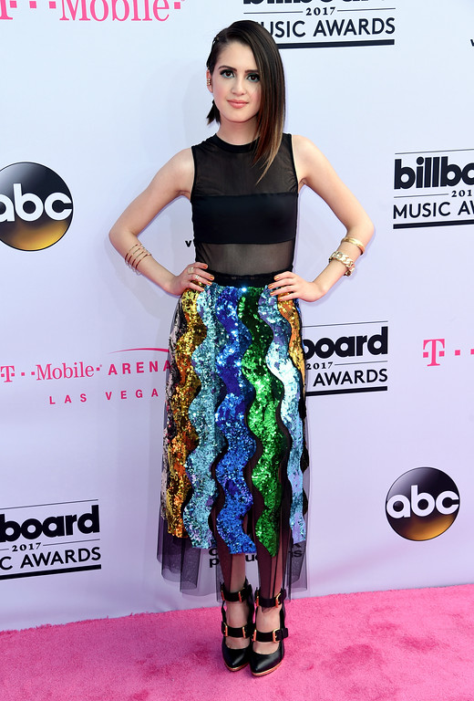 . Laura Marano arrives at the Billboard Music Awards at the T-Mobile Arena on Sunday, May 21, 2017, in Las Vegas. (Photo by Richard Shotwell/Invision/AP)