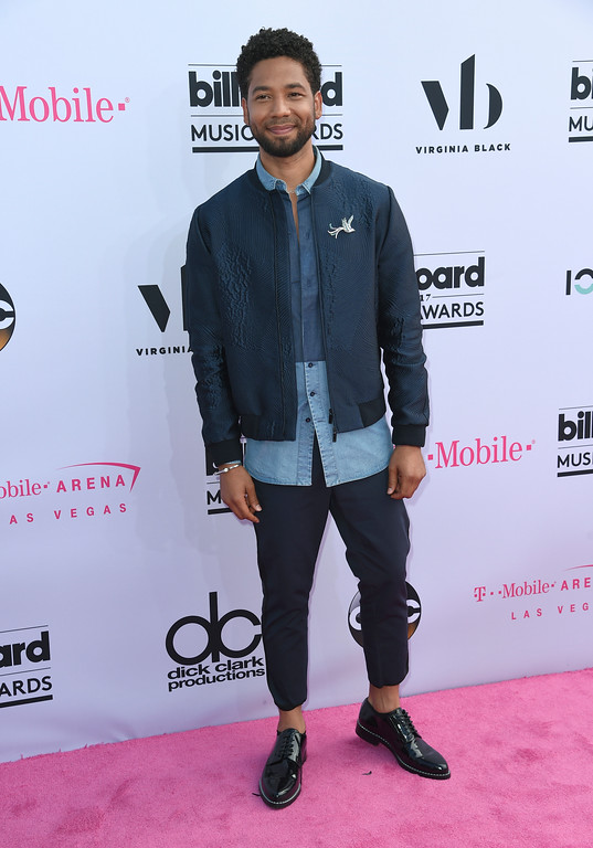 . Jussie Smollett arrives at the Billboard Music Awards at the T-Mobile Arena on Sunday, May 21, 2017, in Las Vegas. (Photo by Richard Shotwell/Invision/AP)