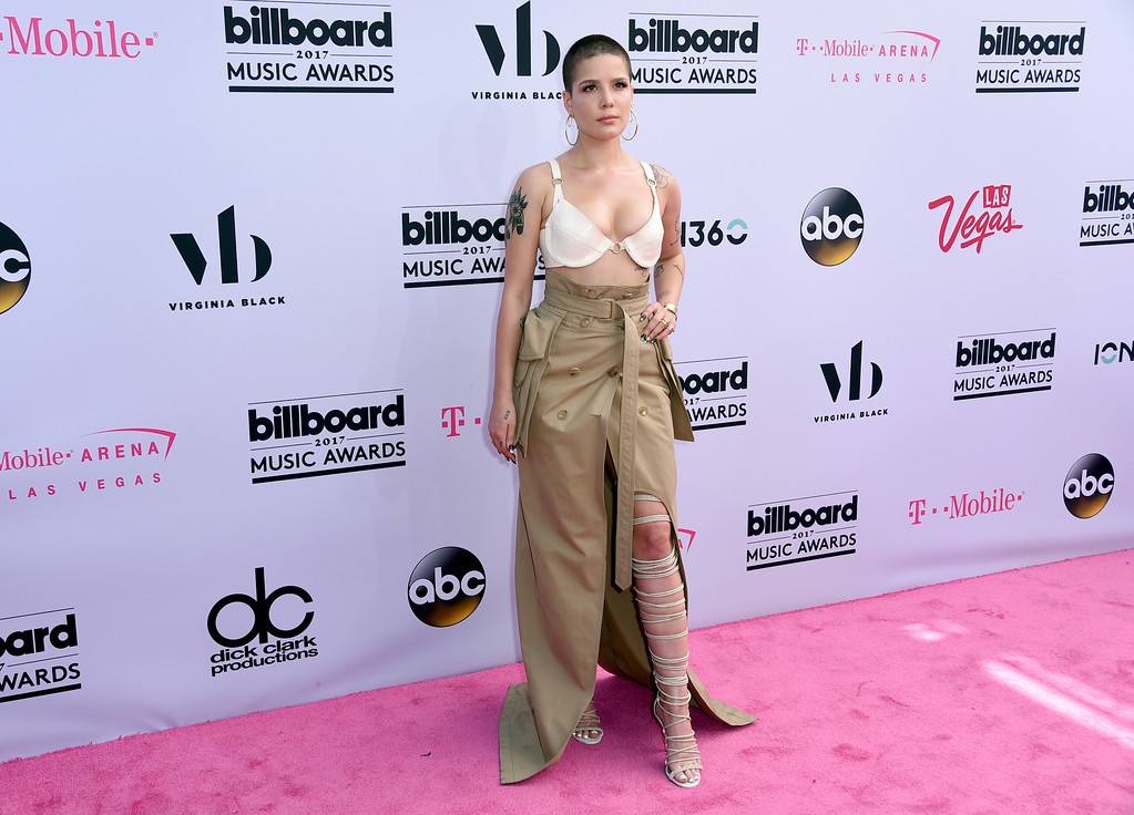 . Halsey arrives at the Billboard Music Awards at the T-Mobile Arena on Sunday, May 21, 2017, in Las Vegas. (Photo by Richard Shotwell/Invision/AP)