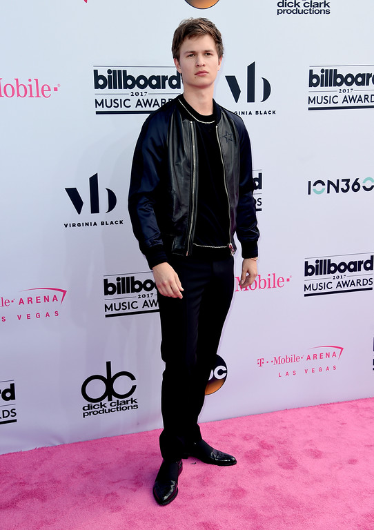 . Ansel Elgort arrives at the Billboard Music Awards at the T-Mobile Arena on Sunday, May 21, 2017, in Las Vegas. (Photo by Richard Shotwell/Invision/AP)