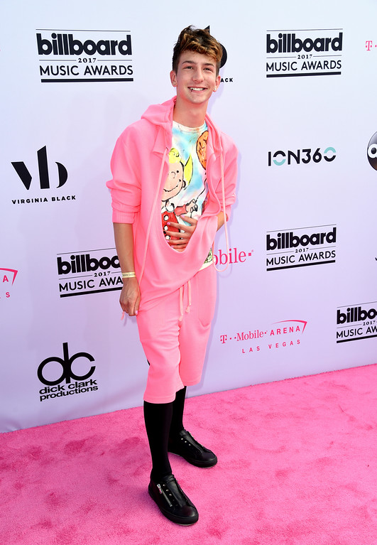 . Chris Oflyng arrives at the Billboard Music Awards at the T-Mobile Arena on Sunday, May 21, 2017, in Las Vegas. (Photo by Richard Shotwell/Invision/AP)