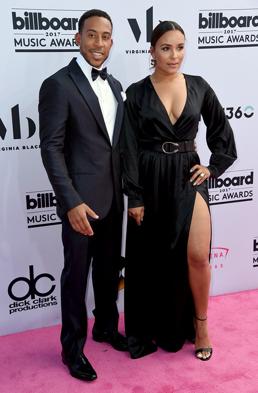 . Ludacris, left, and Eudoxie Mbouguiengue arrives at the Billboard Music Awards at the T-Mobile Arena on Sunday, May 21, 2017, in Las Vegas. (Photo by Richard Shotwell/Invision/AP)