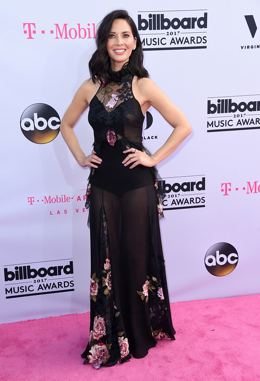 . Olivia Munn arrives at the Billboard Music Awards at the T-Mobile Arena on Sunday, May 21, 2017, in Las Vegas. (Photo by Richard Shotwell/Invision/AP)