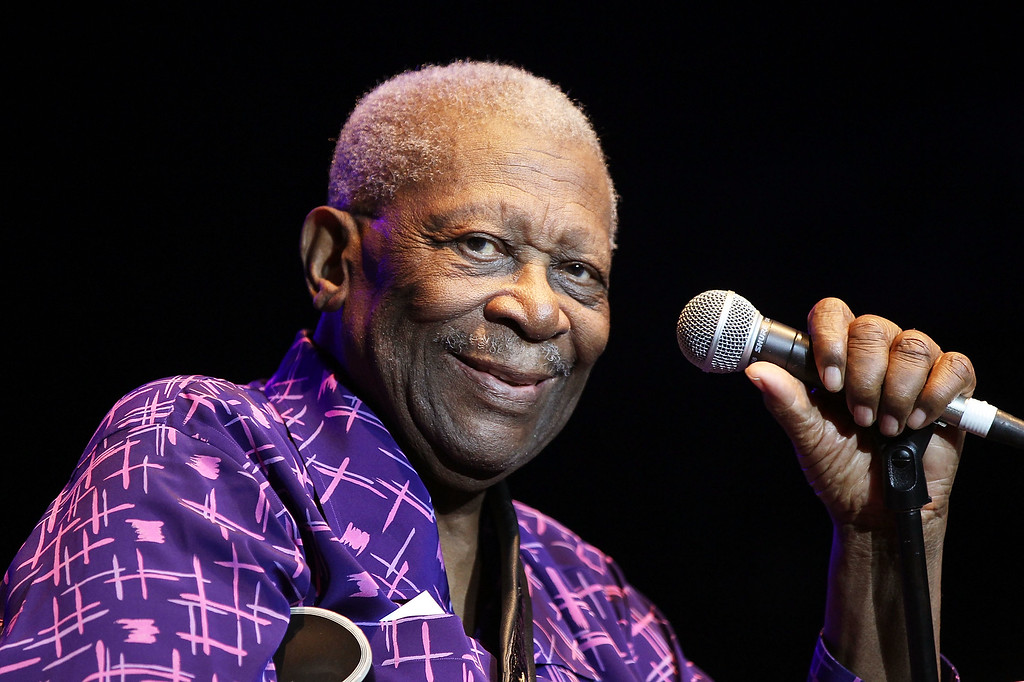. BB King performs on stage during day two of the Bluesfest Music Festival at Tyagarah Tea Tree Farm on April 22, 2011 in Byron Bay, Australia.  (Photo by Mark Metcalfe/Getty Images)