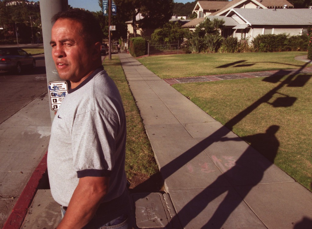 . In this 2001 file photo, former boxing champion Bobby Chacon takes his early-morning walk in Pacoima, California. (Hans Gutknecht/Los Angeles Daily News)