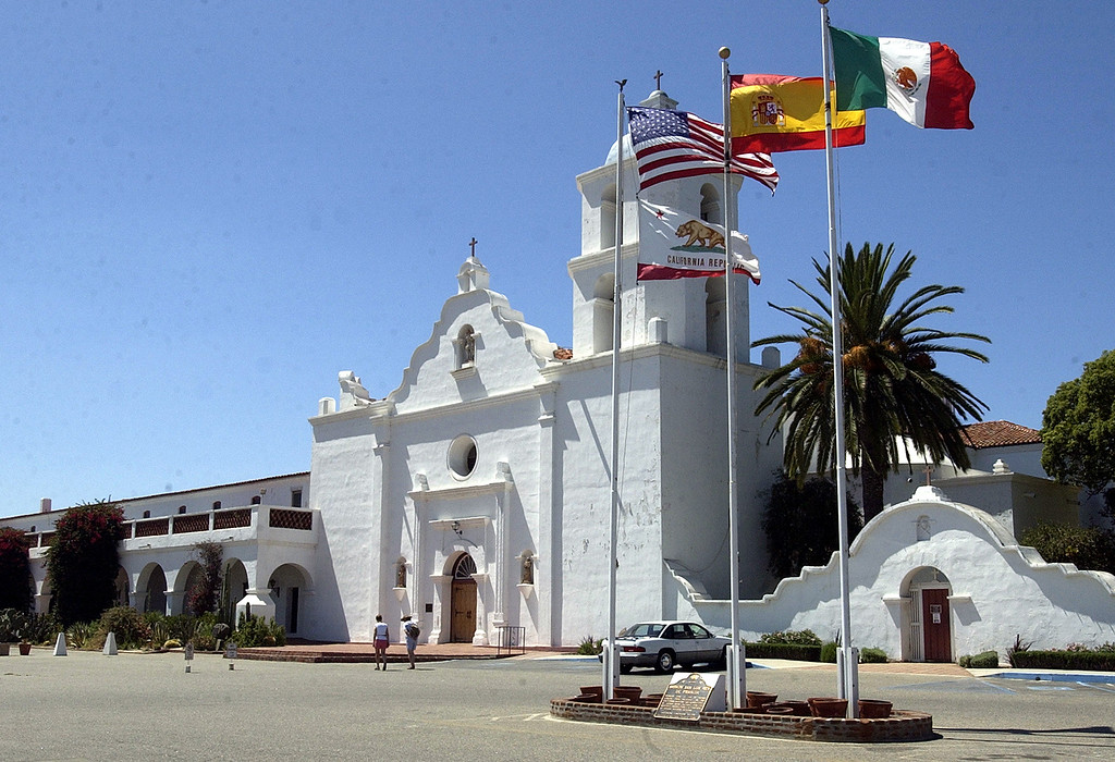 . Mission San Luis Rey de Francia, in Oceanside, Calif., was founded in 1798. (AP Photo/Lenny Ignelzi)