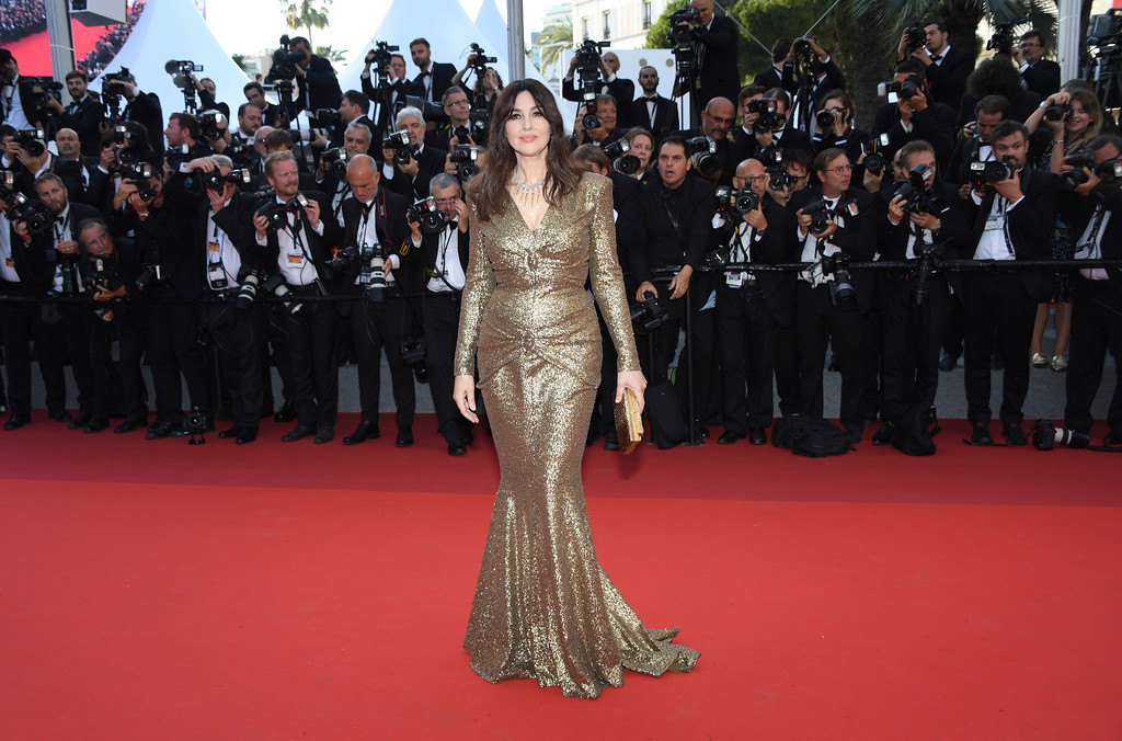 . Actress Monica Bellucci poses for photographers upon arrival at the 70th Anniversary of the film festival, Cannes, southern France, Tuesday, May 23, 2017. (Photo by Arthur Mola/Invision/AP)