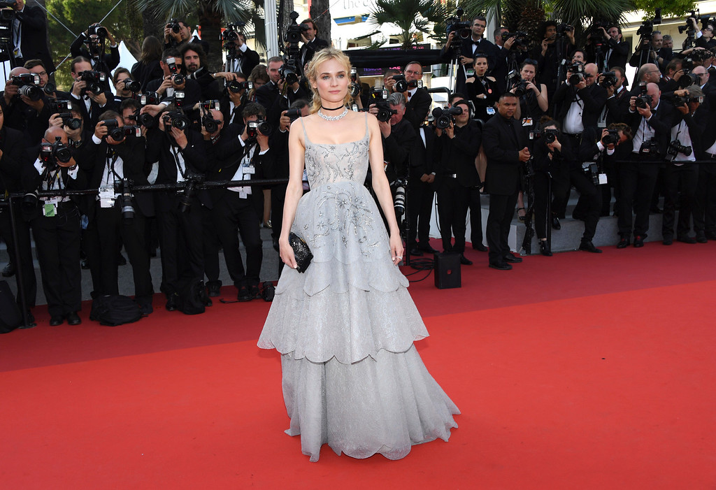 . Actress Diane Kruger poses for photographers upon arrival at the 70th Anniversary of the film festival, Cannes, southern France, Tuesday, May 23, 2017. (Photo by Arthur Mola/Invision/AP)
