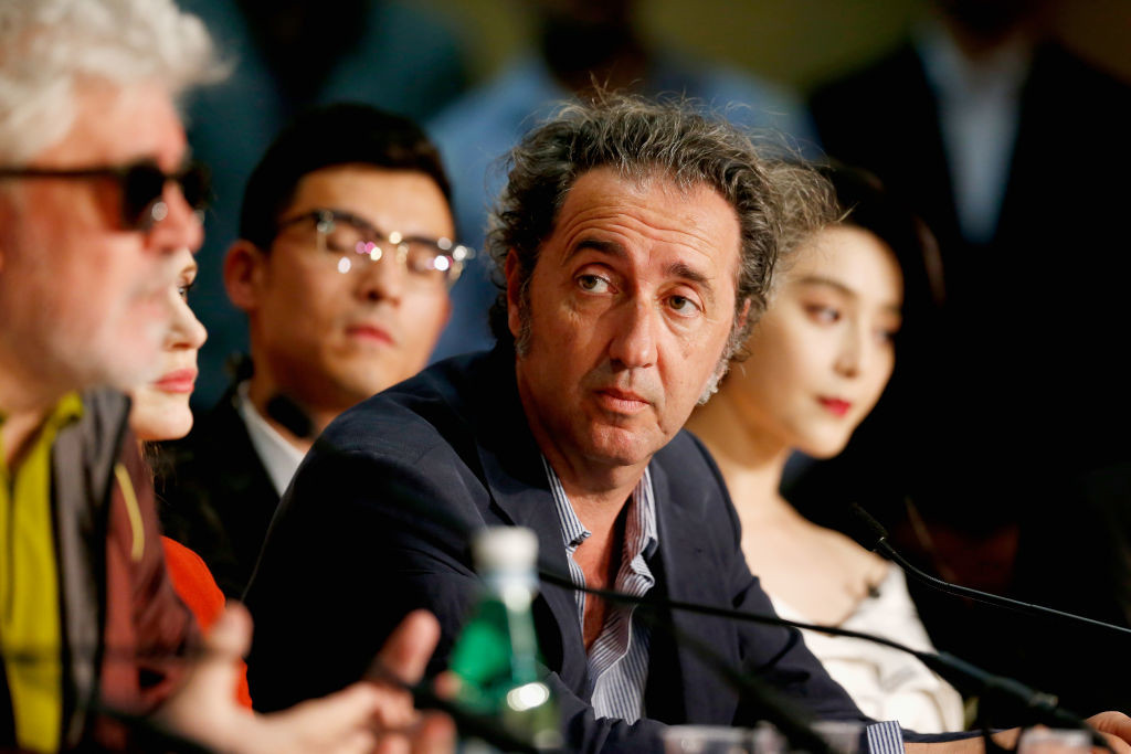 . CANNES, FRANCE - MAY 17: President of the jury Pedro Almodovar and jury members Paolo Sorrentino and Fan Bingbing attends the Jury press conference during the 70th annual Cannes Film Festival at Palais des Festivals on May 17, 2017 in Cannes, France.  (Photo by Getty Images/Getty Images)