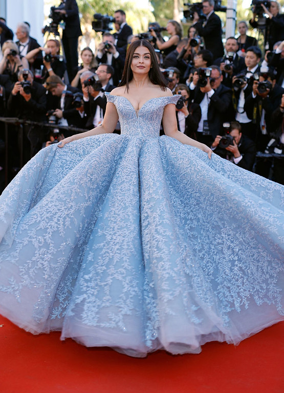 ". CANNES, FRANCE - MAY 19:  Aishwarya Rai Bachchan attends the ""Okja\"" screening during the 70th annual Cannes Film Festival at Palais des Festivals on May 19, 2017 in Cannes, France.  (Photo by Andreas Rentz/Getty Images)"
