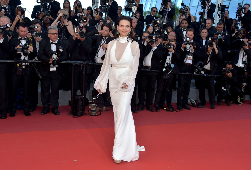 ". CANNES, FRANCE - MAY 19:  Actress Juliette Binoche of \'Let the Sunshine In\' attends the ""Okja\"" screening during the 70th annual Cannes Film Festival at Palais des Festivals on May 19, 2017 in Cannes, France.  (Photo by Pascal Le Segretain/Getty Images)"