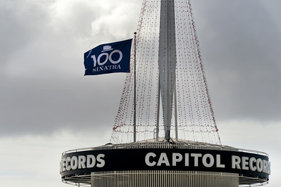 File -  Capitol Records tower on Friday, December 11, 2015.  Frank Sinatra's 100th birthday is Saturday, December 12, 2015.  The custom SINATRA 100 flag will fly atop the tower. (Photo by Dean Musgrove, Los Angeles Daily News/SCNG)