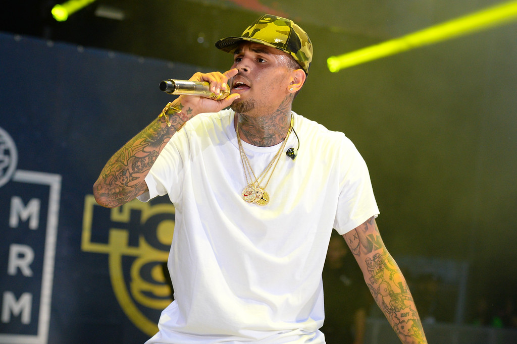 . Rapper Chris Brown performs at the 2015 Hot 97 Summer Jam at MetLife Stadium on Sunday, June 7, 2015, in East Rutherford, New Jersey. (Photo by Scott Roth/Invision/AP)