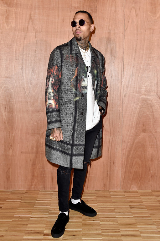 . PARIS, FRANCE - MARCH 06:  Chris Brown attends the Givenchy  show as part of the Paris Fashion Week Womenswear Fall/Winter 2016/2017 on March 6, 2016 in Paris, France.  (Photo by Pascal Le Segretain/Getty Images)