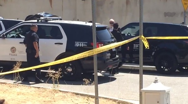 . Chris Brown\'s attorney, Mark Geragos,  now on scene. (Ryan Fonseca/SCNG)