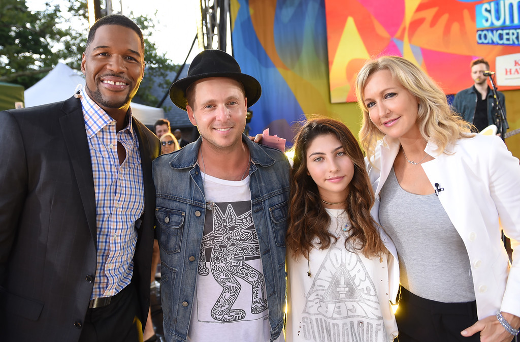 ". The late rock singers Chris Cornell and Chester Bennington were honored by Cornell\'s 12-year-old daughter and the band OneRepublic during a moving and heartfelt live performance Friday. Toni Cornell and OneRepublic, pictured here with Michael Strahan and  Lara Spencer, performed ""Hallelujah\"" on ABC\'s \""Good Morning America.\""  (ABC/ Paula Lobo)"
