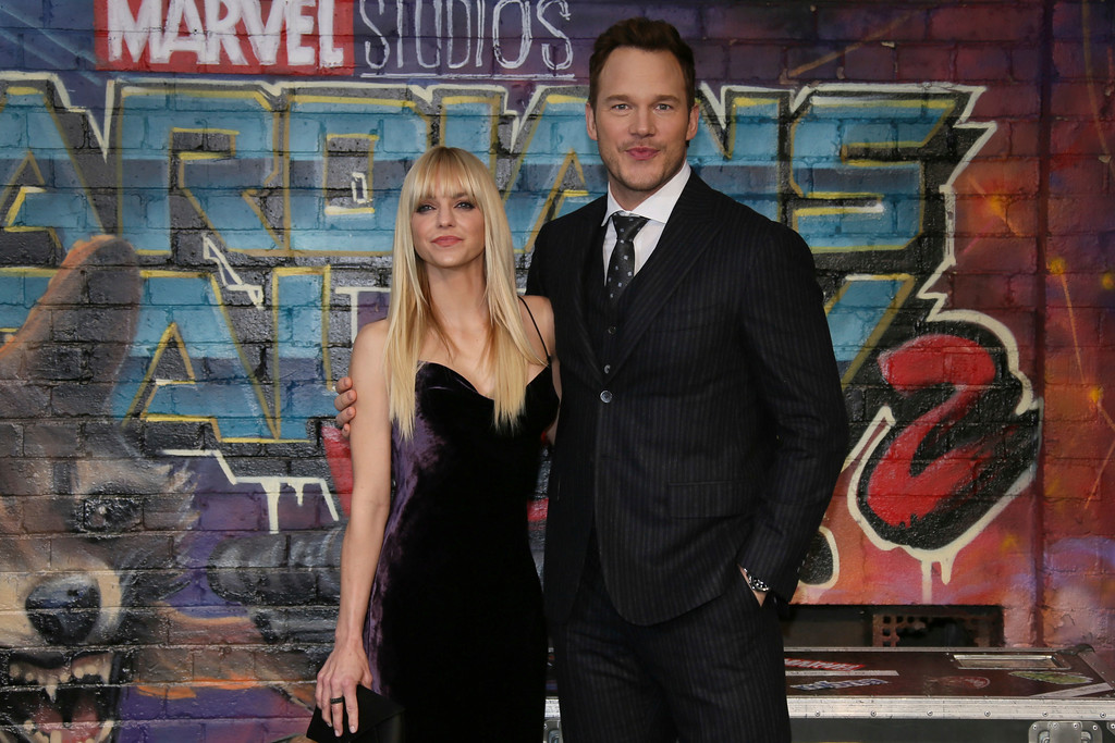 . Actors Anna Faris, left, and Chris Pratt pose for photographers upon arrival at the premiere of the film \'Guardians of the Galaxy Vol.2 \' in London, Monday, April 24, 2017. Pratt and Faris have announced they are separating after eight years of marriage. The actors announced their breakup on social media Sunday, Aug. 6, 2017, in a joint statement confirmed by Pratt�s publicist.  (Photo by Joel Ryan/Invision/AP)