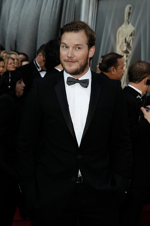 . Chris Pratt arrives before the 84th Academy Awards on Sunday, Feb. 26, 2012, in the Hollywood section of Los Angeles. (AP Photo/Matt Sayles)